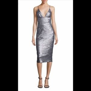 ABS silver sequins wiggle dress size 2 GORGEOUS!!